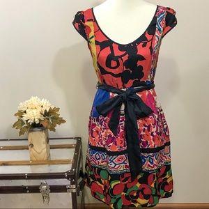 Moulinette Soeurs Silk Floral Patchwork Dress 4